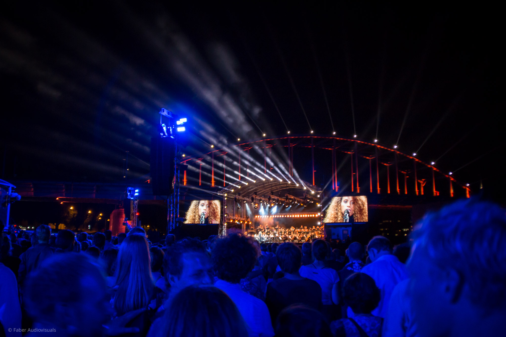 Faber delivers LED screens for Bridge to Liberation