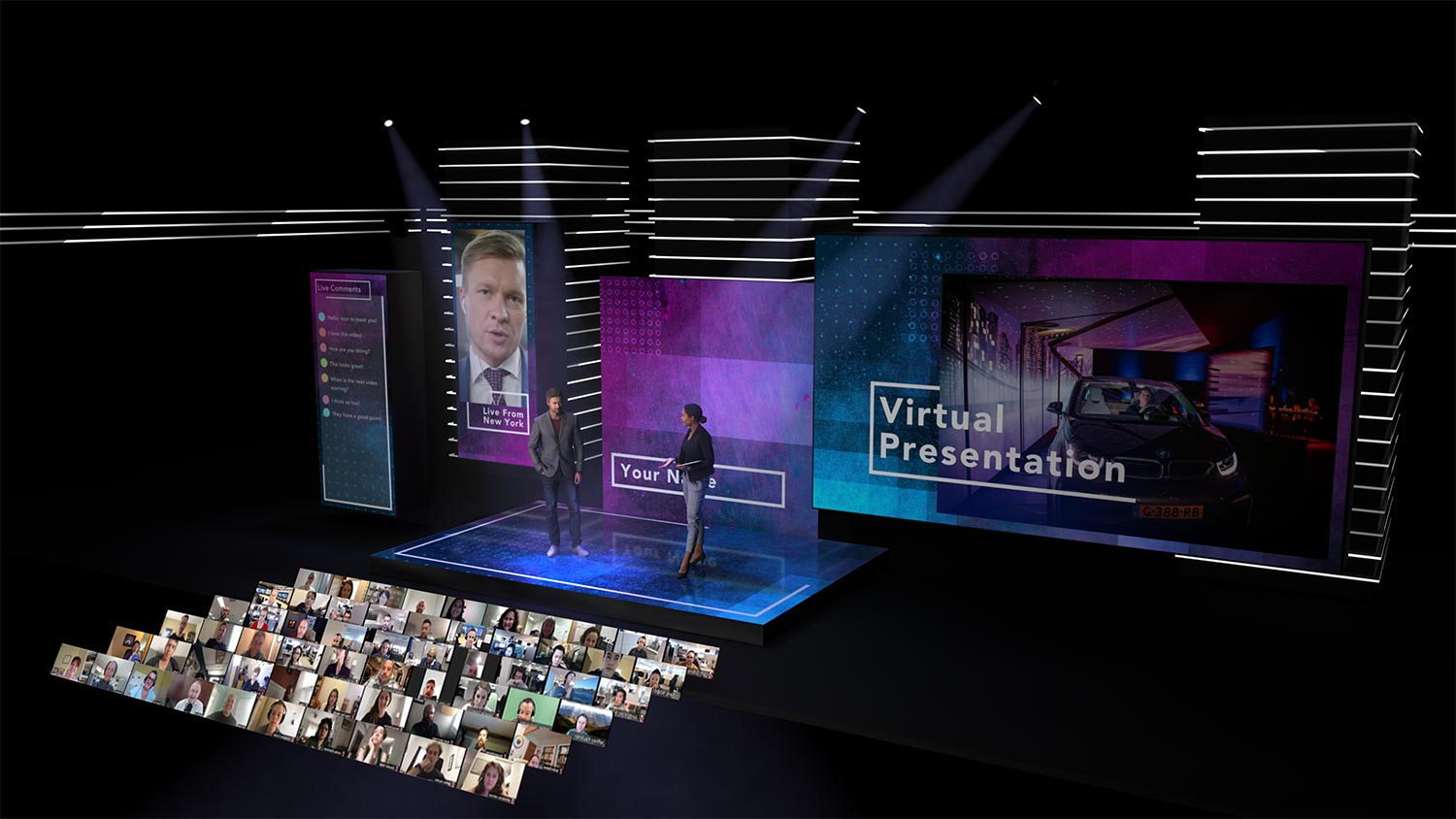 Virtual event studio augmented reality