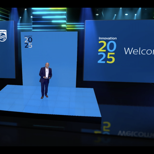 visualization of the virtual event studio
